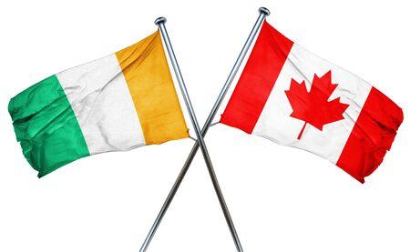 coast: Ivory coast flag combined with canada flag Stock Photo