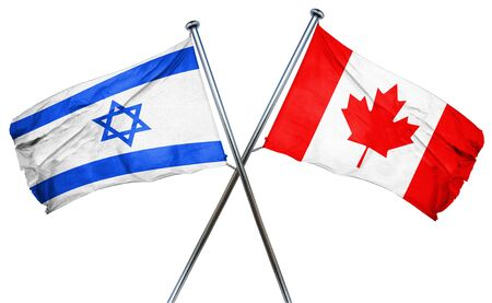 isolation backdrop: Israel flag combined with canada flag
