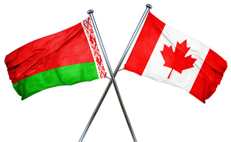 belarus: Belarus flag combined with canada flag Stock Photo