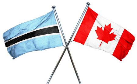 combined: Botswana flag combined with canada flag