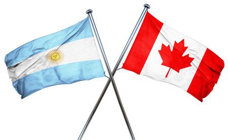 bandera argentina: Bandera de Argentina combinado con la bandera de Canad�