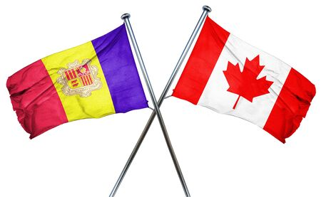 combined: Andorra flag combined with canada flag Stock Photo