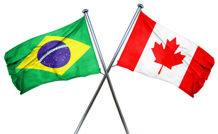 brasil: Brasil flag combined with canada flag