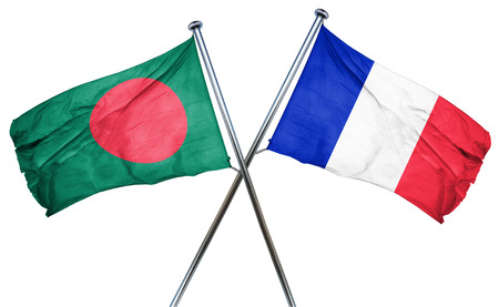 french culture: Bangladesh flag combined with france flag Stock Photo