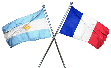 isolation backdrop: Argentina flag combined with france flag