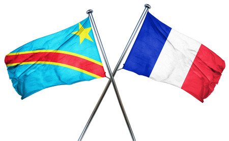 french culture: Democratic republic of the congo flag combined with france flag