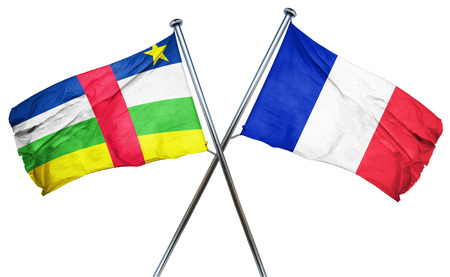 isolation backdrop: Central african republic flag combined with france flag