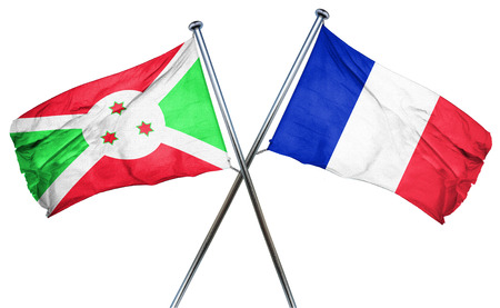 amity: Burundi flag combined with france flag