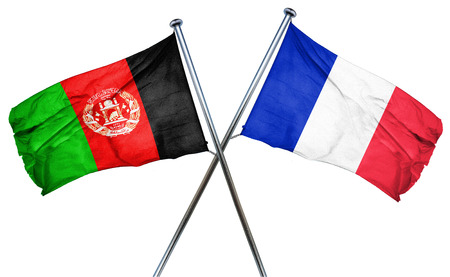 french culture: Afghanistan flag combined with france flag