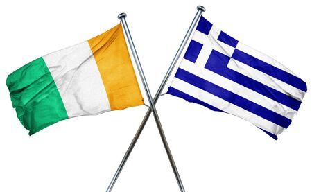 greek flag: Ivory coast flag combined with greek flag