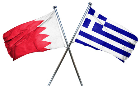 greek flag: Bahrain flag combined with greek flag