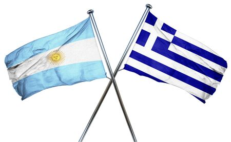 argentina flag: Argentina flag combined with greek flag