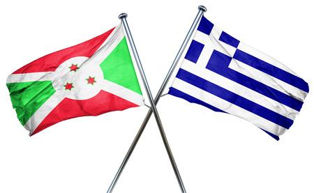 burundi: Burundi flag combined with greek flag Stock Photo
