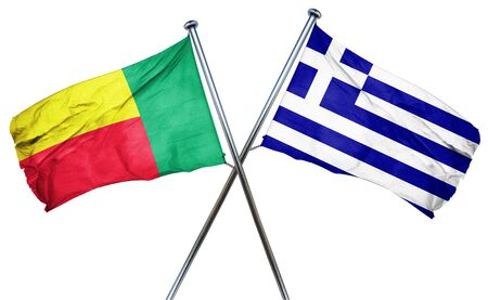 combined: Benin flag combined with greek flag