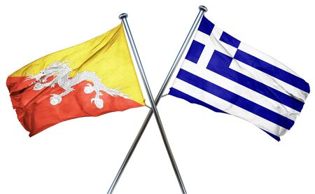 greek flag: Bhutan flag combined with greek flag