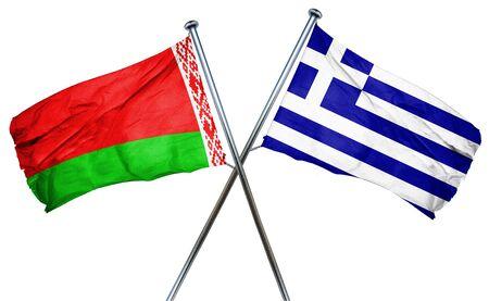 greek flag: Belarus flag combined with greek flag