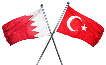 combined: Bahrain flag combined with turkey flag