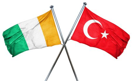 isolation backdrop: Ivory coast flag combined with turkey flag