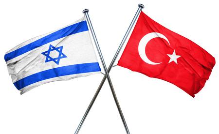 israel flag: Israel flag combined with turkey flag