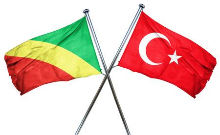 isolation backdrop: Congo flag combined with turkey flag