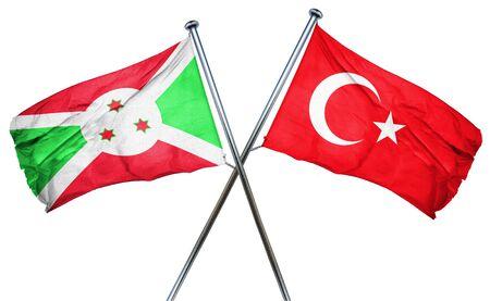 turkey flag: Burundi flag combined with turkey flag Stock Photo