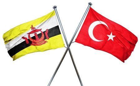 turkey flag: Brunei flag combined with turkey flag