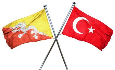 bhutan: Bhutan flag combined with turkey flag