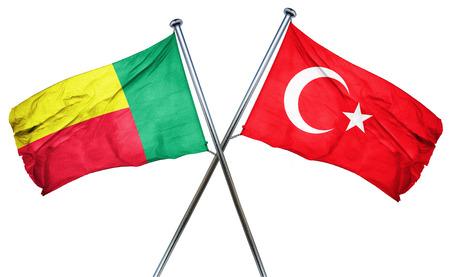 turkey flag: Benin flag combined with turkey flag Stock Photo