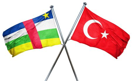 central african republic: Central african republic flag combined with turkey flag