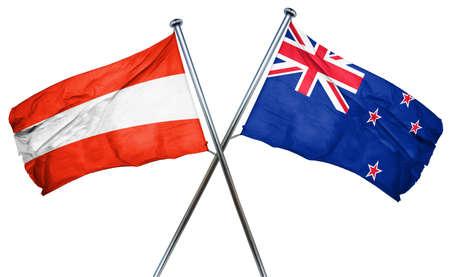 austria flag: Austria flag combined with new zealand flag Stock Photo