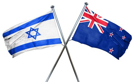 treaty: Israel flag combined with new zealand flag
