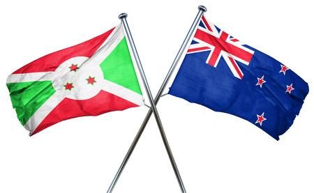 combined: Burundi flag combined with new zealand flag Stock Photo