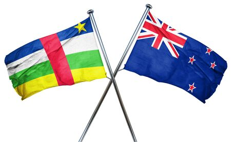 treaty: Central african republic flag combined with new zealand flag