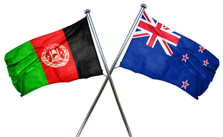 afghanistan flag: Afghanistan flag combined with new zealand flag