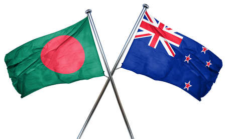 treaty: Bangladesh flag combined with new zealand flag