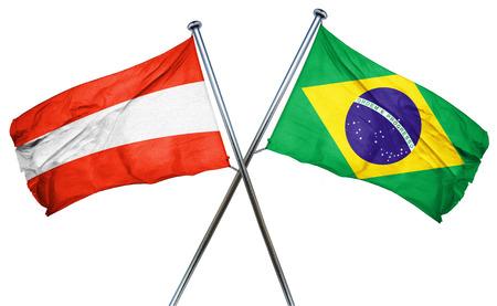 austria flag: Austria flag combined with brazil flag Stock Photo