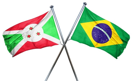 treaty: Burundi flag combined with brazil flag