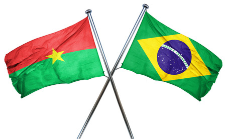 amity: Burkina Faso flag combined with brazil flag Stock Photo