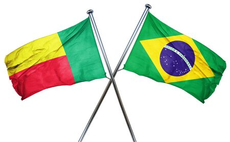 treaty: Benin flag combined with brazil flag