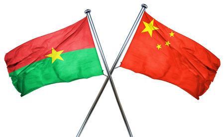burkina faso: Burkina Faso flag combined with china flag