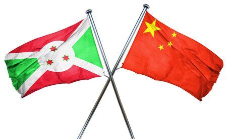 burundi: Burundi flag combined with china flag Stock Photo