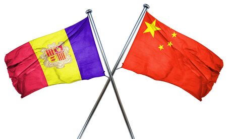 amity: Andorra flag combined with china flag Stock Photo