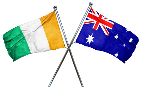 treaty: Ivory coast flag combined with australian flag