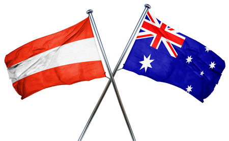 combined: Austria flag combined with australian flag