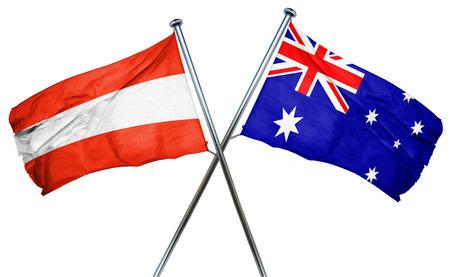 austria flag: Austria flag combined with australian flag