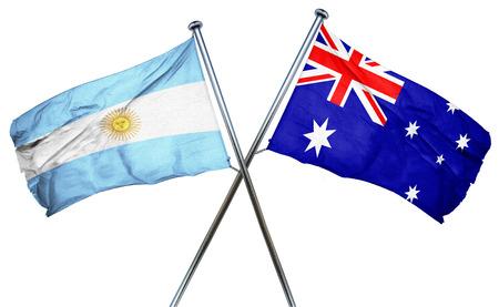 australian culture: Argentina flag combined with australian flag