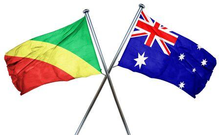 Congo: Congo flag combined with australian flag