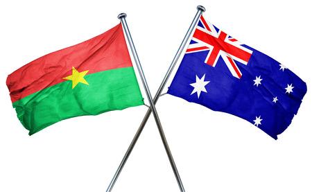 burkina faso: Burkina Faso flag combined with australian flag Stock Photo