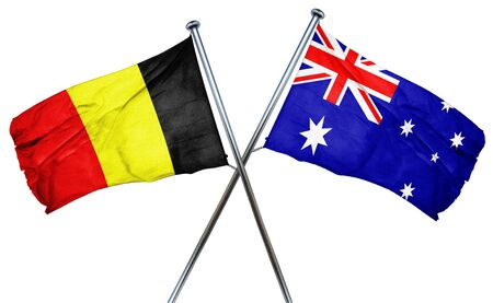 amity: Belgium flag combined with australian flag