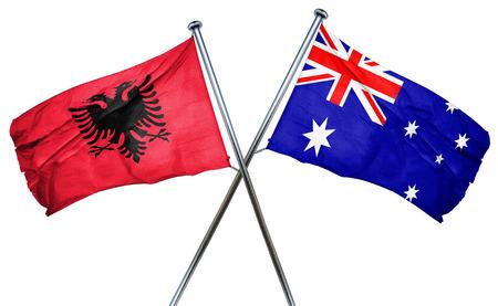 albania: Albania flag combined with australian flag